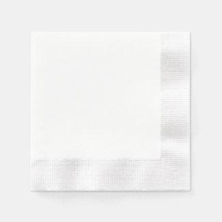Servilleta de papel de encargo - blanco acuñado