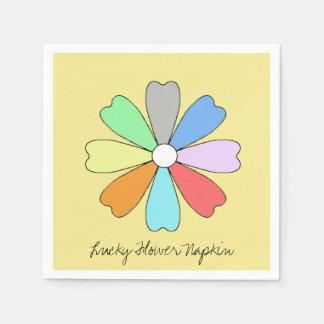 Servilleta de papel de la flor afortunada