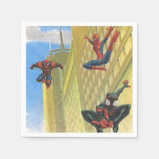 Servilleta de papel de la mujer de la araña