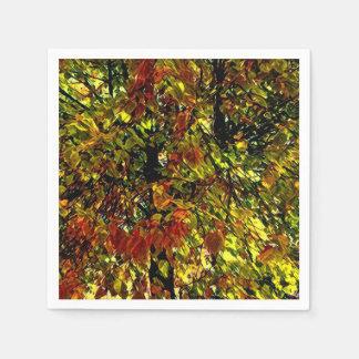 Servilleta de papel de pintura del árbol hermoso