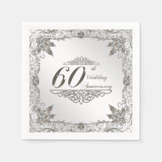 Servilleta de papel del aniversario del diamante
