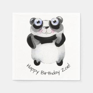servilleta de papel del cumpleaños temático animal
