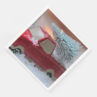 Servilleta de papel del navidad del camión del