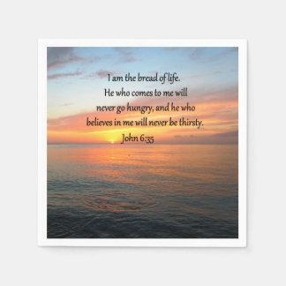 SERVILLETA DE PAPEL DISEÑO IMPRESIONANTE DE LA SALIDA DEL SOL DEL 6:35