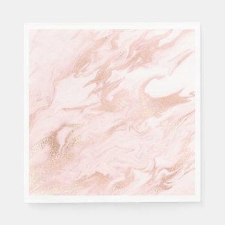 Servilleta De Papel El oro color de rosa elegante y se ruboriza las