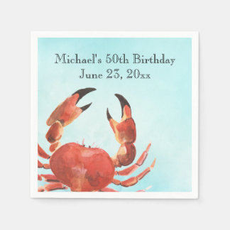 Servilleta De Papel Fiesta de cumpleaños de la ebullición del cangrejo