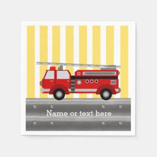 Servilleta De Papel Fiesta de cumpleaños del coche de bomberos