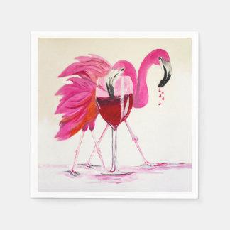 Servilleta De Papel Flamencos en vino