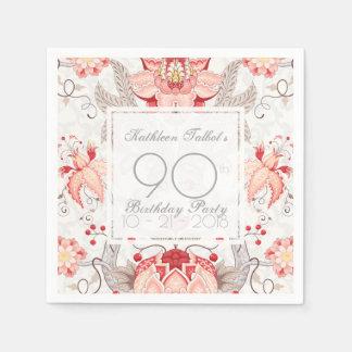 Servilleta de papel floral de la fiesta de