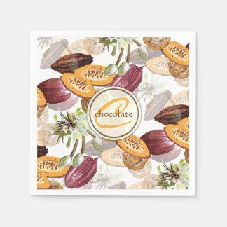Servilleta De Papel Granos de cacao, flores del chocolate, los regalos