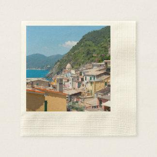 Servilleta De Papel Hogares coloridos en Cinque Terre Italia