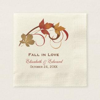 Servilleta De Papel Hojas de la caída del otoño de las servilletas el