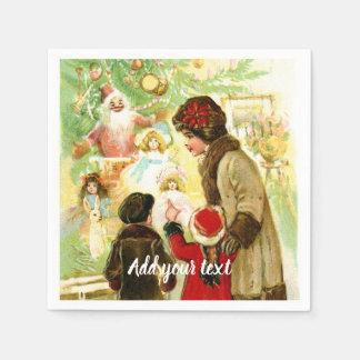 Servilleta De Papel Ilustracion precioso del navidad del vintage