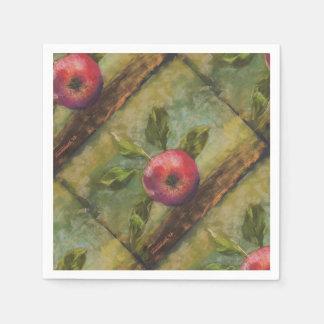 Servilleta De Papel Ilustraciones originales que pintan la manzana