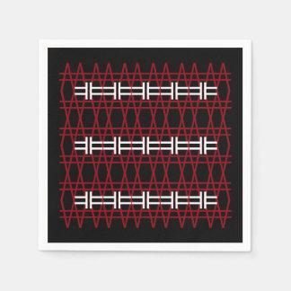Servilleta De Papel Línea inconformista blanco negro rojo simple del
