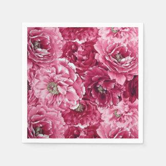 Servilleta De Papel Los Peonies rosados clásicos agrupan servilletas