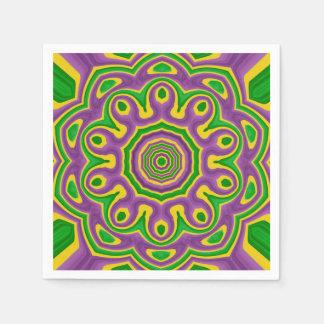 Servilleta De Papel Mandala púrpura amarilla verde del modelo del
