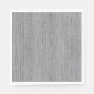 Servilleta De Papel Mirada de madera de bambú del grano del gris de