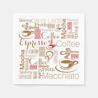 Servilleta De Papel Moda del café rojo marrón