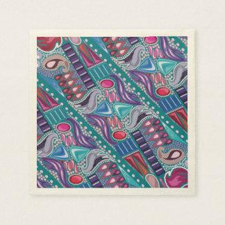 Servilleta De Papel Modelo colorido brillante de la joyería de lujo