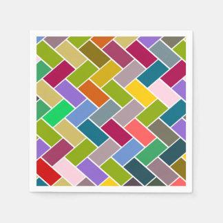 Servilleta De Papel Mosaico colorido tejado del modelo