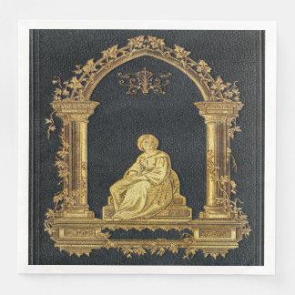 Servilleta De Papel Mujer de Falln en cubierta de libro del oro
