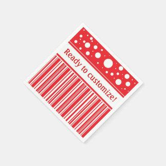 Servilleta De Papel Navidad rojo y blanco