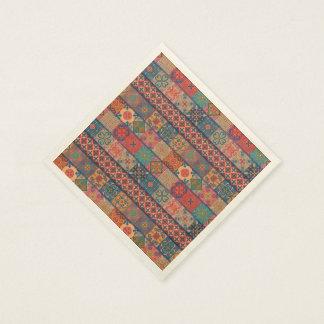 Servilleta De Papel Ornamento de Talavera del mosaico del vintage