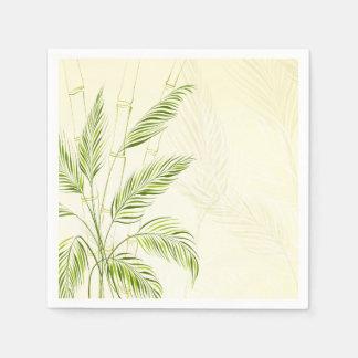 Servilleta De Papel Palmeras en la servilleta de bambú del bosque el |