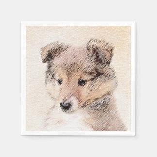 Servilleta De Papel Perrito del perro pastor de Shetland