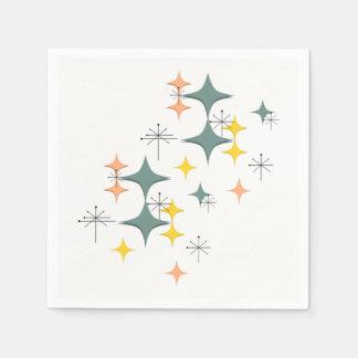 Servilleta De Papel Personalizado atómico moderno de Eames Starbursts