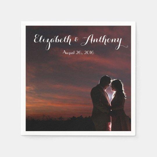 Servilleta De Papel Personalizar con el boda de la foto