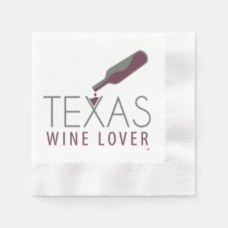 Servilleta De Papel Servilleta del cóctel del amante del vino de Tejas