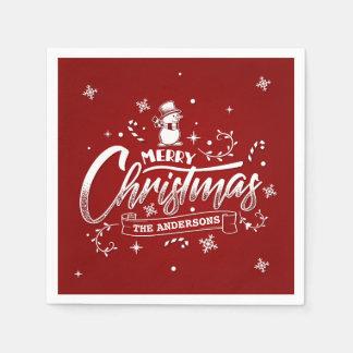 Servilleta De Papel Servilleta personalizada simple del navidad el |