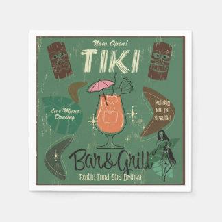 Servilleta De Papel Servilletas del cóctel de Tiki Bar&Grill