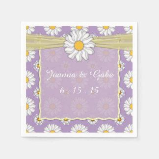 Servilleta De Papel Servilletas florales amarillas del boda de la