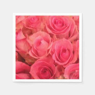 Servilleta De Papel Servilletas rosadas de los rosas