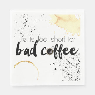Servilleta de papel temática del café