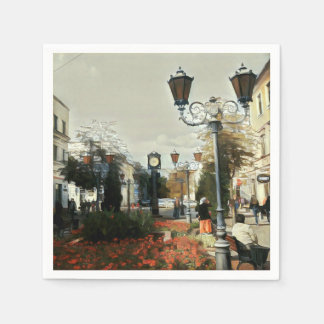 Servilleta de papel urbana de la pintura de