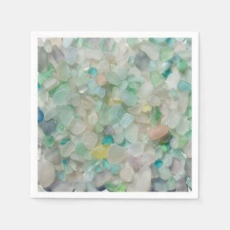 Servilleta De Papel Vidrio del mar, servilletas de cristal de la foto