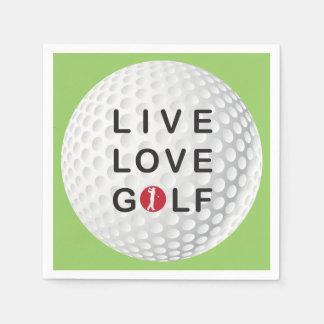 Servilleta De Papel viva, ame las servilletas del golf