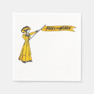 Servilleta De Papel ¡VOTOS para el fiesta del Suffragette de las