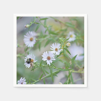 Servilleta De Papel Wildflowers blancos