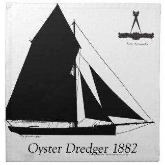 Servilleta De Tela 1882 draga de la ostra - fernandes tony