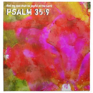 Servilleta De Tela 35:9 del salmo