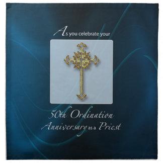 Servilleta De Tela 50.o Aniversario de la ordenación del jubileo del