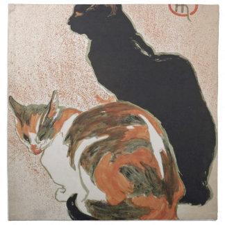 Servilleta De Tela Acuarela - 2 gatos - Théophile Alejandro Steinlen