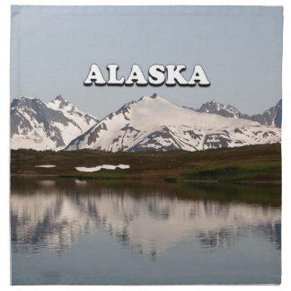 Servilleta De Tela Alaska: Reflexiones del lago de montañas