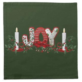 Servilleta De Tela Alegría de los días de fiesta del navidad