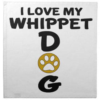 Servilleta De Tela Amo mis diseños del perro de Whippet